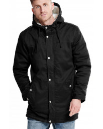 Only & Sons Parka Teddy Woven Jacket Black | Jean Scene