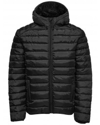 Only & Sons Puffer Liner Quilt Jacket Black | Jean Scene