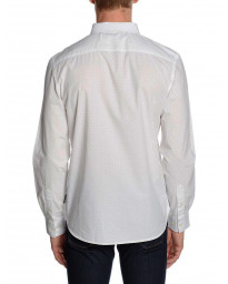 French Connection Pyramid Long Sleeve Shirt White   Jean Scene