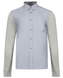 French Connection Stretch Men's Multi Mix Melange Shirt Blueblood | Jean Scene