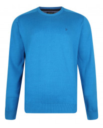 Farah Crew Neck Cotton Jumper Bristol Blue Image