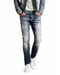Jack & Jones Glenn Original Slim Fit Jeans Mid Blue Denim