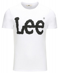 Lee Crew Neck Logo Print T-shirt White Black