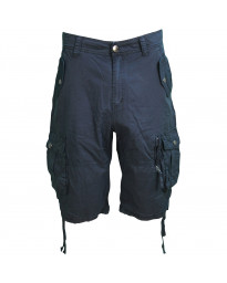 Soul Star Casual Cotton Cargo 104 Bermuda Shorts Navy