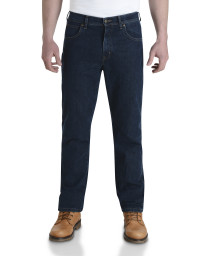 Wrangler Durable Stretch Denim Jeans Darkstone Blue Image