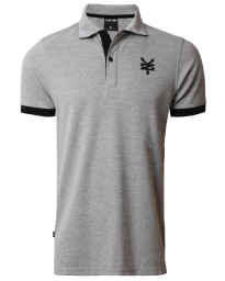 Zoo York Men's Tower Polo Shirt Atheletic Grey Marl
