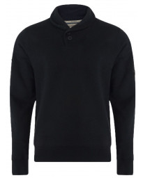 Dissident Shawl Neck Plain Sweatshirt Black