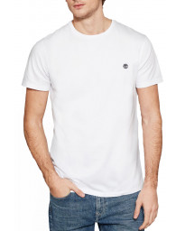 Timberland River Dunstan Regular Crew Neck T-Shirt Long Sleeve White | Jean Scene