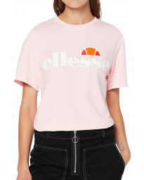 Ellesse Womens Logo T-Shirt Short Sleeve Light Pink | Jean Scene