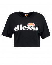 Ellesse Womens Logo Crop T-Shirt Short Sleeve Antracite | Jean Scene
