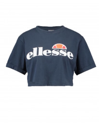 Ellesse Womens Logo Crop T-Shirt Short Sleeve Navy | Jean Scene