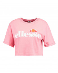 Ellesse Womens Logo Crop T-Shirt Short Sleeve Light Pink | Jean Scene