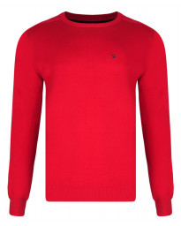 Farah Crew Neck Cotton Jumper Chilli Red Image