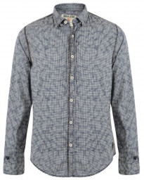 Garcia Jeans Long Sleeve Pattern Shirt Marine Blue Image