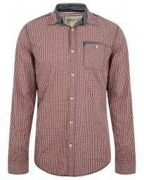 Garcia Jeans Long Sleeve Check Shirt Radish Red Image