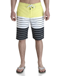 Smith & Jones Beach Swim Shorts & Flip Flop Set Stripe Yellow Image