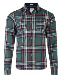 Lee Cooper Long Sleeve Check Shirt Green Image
