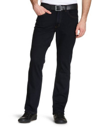 Lee Brooklyn Straight Denim Stretch Jeans Blue Black Image