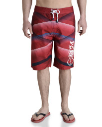 Smith & Jones Swim Beach Shorts & Flip Flop Set Stripe Tango Red Image
