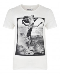 Blend Surf Beach Summer Print T-shirt Beige Cream Image