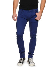 Soul Star Slim Tapered Skinny Fit Royal Blue Denim Jeans Image