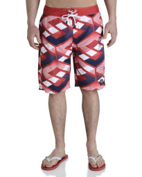 Smith & Jones Beach Swim Shorts & Flip Flop Set Latitude Red Image