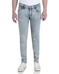 Soul Star Slim Tapered Skinny Fit Light Wash Snow Jeans Image