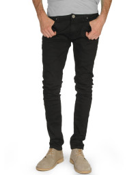 Soul Star Slim Tapered Skinny Fit Black Denim Jeans Image