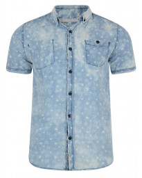 Soul Star Short Sleeve Shirt Faded Light Blue Image