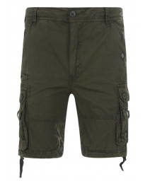 Soul Star Casual Cargo Bermuda Shorts Olive Green Image