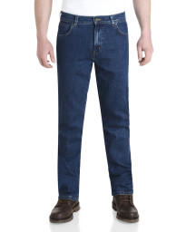Wrangler Durable Stretch Denim Jeans Dark Stone Blue Image