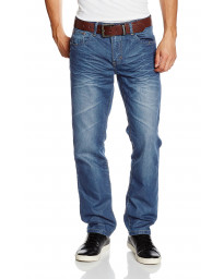 Crosshatch Farrow Straight Leg Denim Jeans Lightwash | Jean Scene