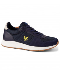 Lyle & Scott Men's Speedie Casual Trainers Trainers Dark Navy/Off White | Jean Scene
