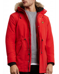 Lyle & Scott Men's Casual Jacket Tomato Red | Jean Scene