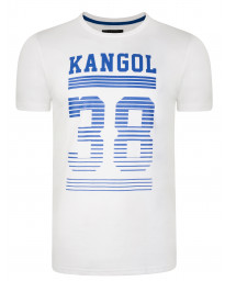 Kangol Handley Crew Neck Cotton Logo T-shirt White | Jean Scene