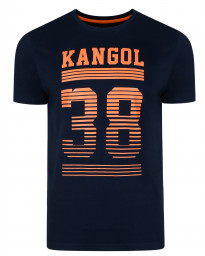 Kangol Handley Crew Neck Cotton Logo T-shirt Navy | Jean Scene