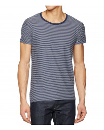 Lee Casual Crew Neck Stripe T-shirt Deep Indigo | Jean Scene
