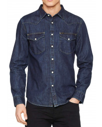 Lee Long Sleeve Western Denim Shirt Blue Print | Jean Scene