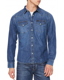 Lee Long Sleeve Western Denim Shirt Oil Blue | Jean Scene