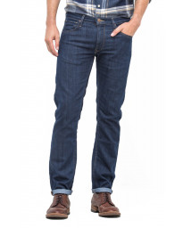 Lee Daren Zip Regular Slim Dark Indigo Blue Denim Jeans | Jean Scene