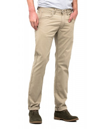 Lee Daren Zip Regular Slim Beige Chino Jeans | Jean Scene