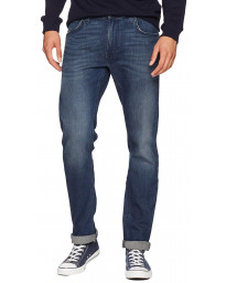 Lee Daren Zip Regular Slim Dark Blue Worn Blue Denim Jeans | Jean Scene
