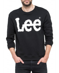 Lee Crew Neck Logo Sweatshirt Black | Jean Scene