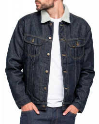 Lee Sherpa Fur Denim Jacket Rinse | Jean Scene