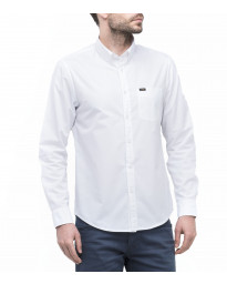 Lee Button Down Plain Shirt Long Sleeve White | Jean Scene