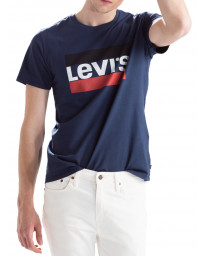Levis 84 Sportswear Men's T-Shirt Dress Blues | Jean Scene