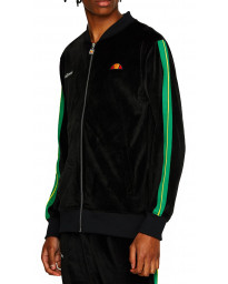 Ellesse Men's Labaro Velour Zip Up Top Black | Jean Scene