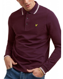 Lyle & Scott Polo Shirt Burgundy/White | Jean Scene