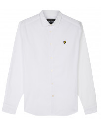 Lyle & Scott Poplin Shirt Long Sleeve White | Jean Scene