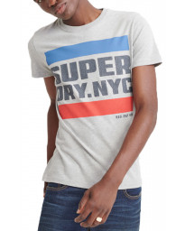 Superdry NYC TAB Men's T-Shirt Grey Marl | Jean Scene